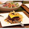 ハラペーニョ&クリームチーズハンバーグステーキ、ブラックビーンライス添え