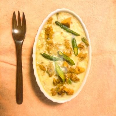 高野豆腐とアスパラの豆乳美肌ドリア