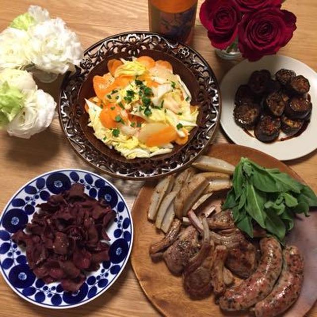 サルシッチャとラムグリルの洋食