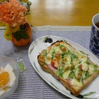手作りパンDEハム&ベーコンの大豆チーズトースト