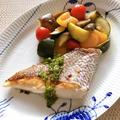 さわやかな辛さの「ナンプラーと青唐辛子のソース」と作りおき「塩ラタトゥイユ」。