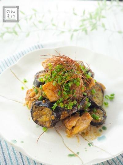 【レシピ】鶏もも肉と茄子の味噌マヨソテー