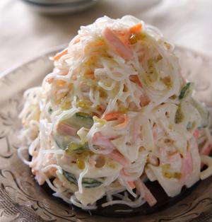 柚子胡椒香るシャキシャキ春雨のマヨネーズサラダ