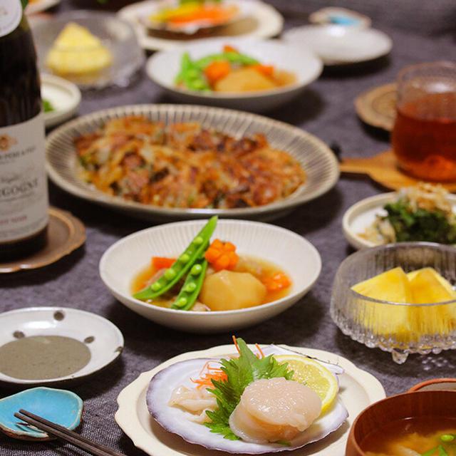 【献立】活ほたてのお刺身と卵の煮つけと。~陸奥湾のほたてがめちゃくちゃ肉厚で美味しさがパネエです~