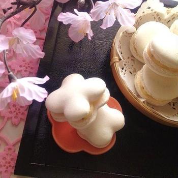桜のマカロン☆