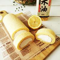 レモンのシフォンロールケーキ〈ボーソー米油レシピ〉
