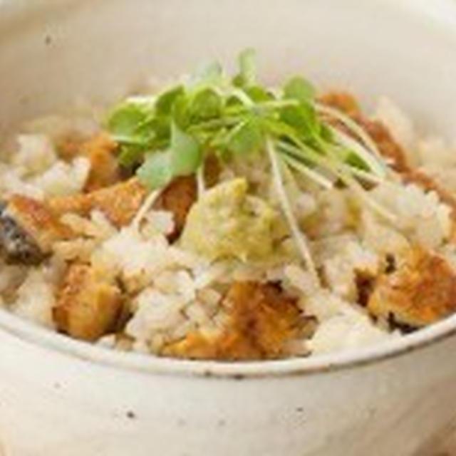 今宵の肴 @ ウナギ(うなぎ・鰻) 炊き込みご飯 (わさび風味)