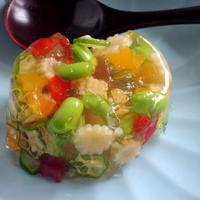 ±0クッキンミキサーで作るフルコース料理☆その2☆夏野菜のゼリー寄せ♡