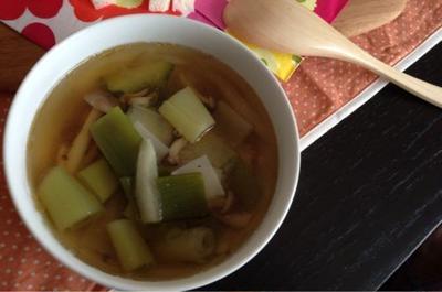 ズッキーニのスープ。