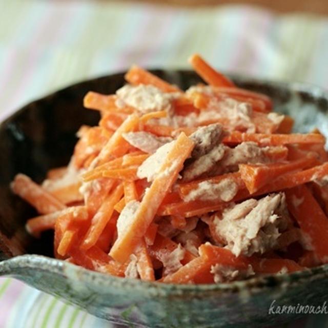 にんじんのツナマヨ和え・ワンプレートランチ・小松菜とかまぼこの白だし和えなど
