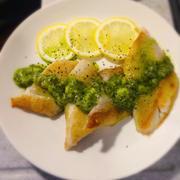 白身魚のバジルバターソテー