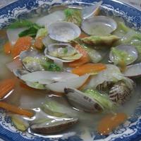 白菜とあさりのスープ煮☆庄内ガラス。。