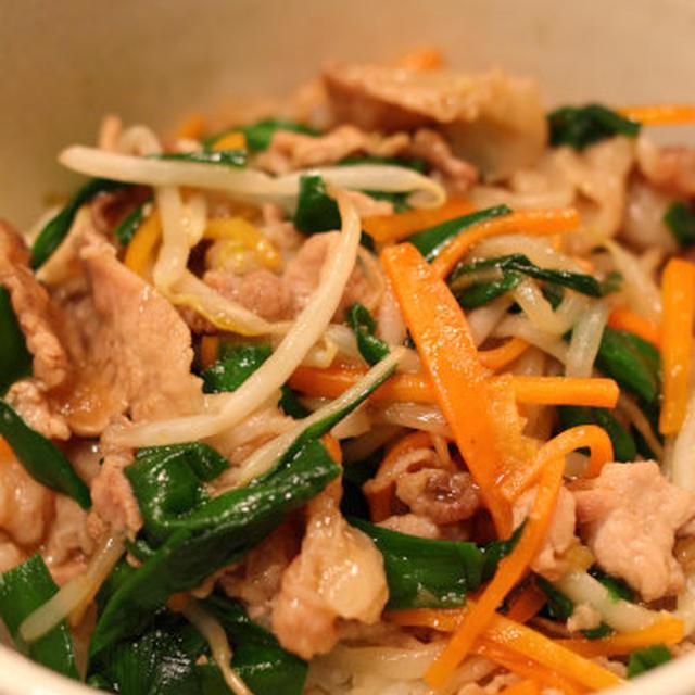 豚肉と野菜の中華丼