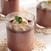 ひんやり濃厚♪バレンタインにもおすすめの「チョコレートババロア」