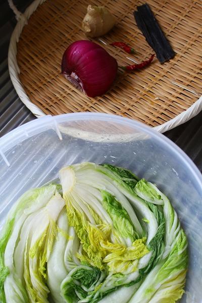 白菜のタマネギ漬け