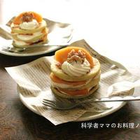 お芋ガレットと柿のケーキ☆