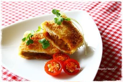レトルトカレーde食カレーパン(*´∀`*)