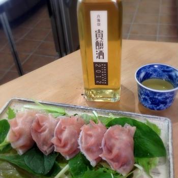 八海山 貴醸酒×生ハムギョーザ