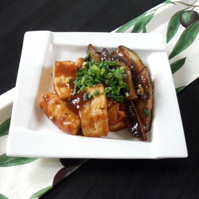 なすと 豆腐の味噌炒め♪