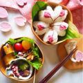 *春の桜のお弁当*桜の花おにぎり*