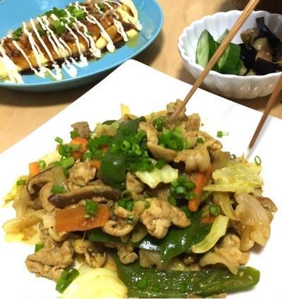 カレー野菜炒め