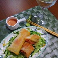 簡単美味しい★スパム&野菜&チーズの春巻き