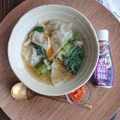 焼き餃子と野菜たっぷり餃子スープ