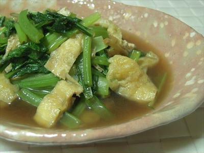 小松菜と油揚げの煮びたし・オイシックス食材