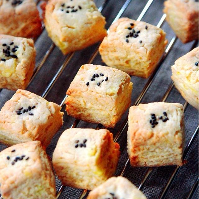 ♡HMde超簡単♡スイートポテトスコーン♡【#ホットケーキミックス#お菓子#さつまいも】