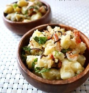 味見が止まらない♪桜海老と塩昆布の和風ポテトサラダ
