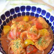 バスク風チキンのトマト煮込み