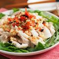 鶏むね肉の冷しゃぶサラダ、野菜たっぷり、食べるドレッシングかけ!作り方動画