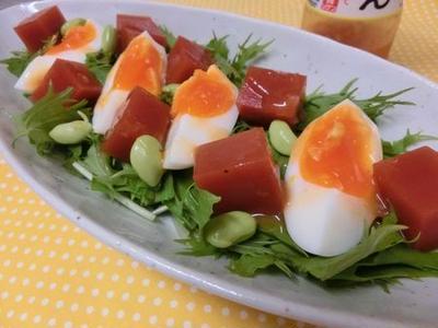 トマトジュースで♪ トマトキューブのサラダ