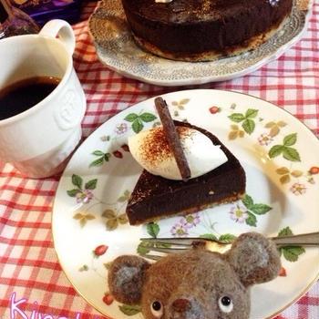 【バレンタイン】簡単!混ぜるだけ☆濃厚チョコレートケーキ