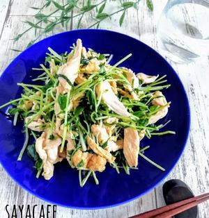 【作りおき】電子レンジde鶏むね肉と水菜の中華蒸し