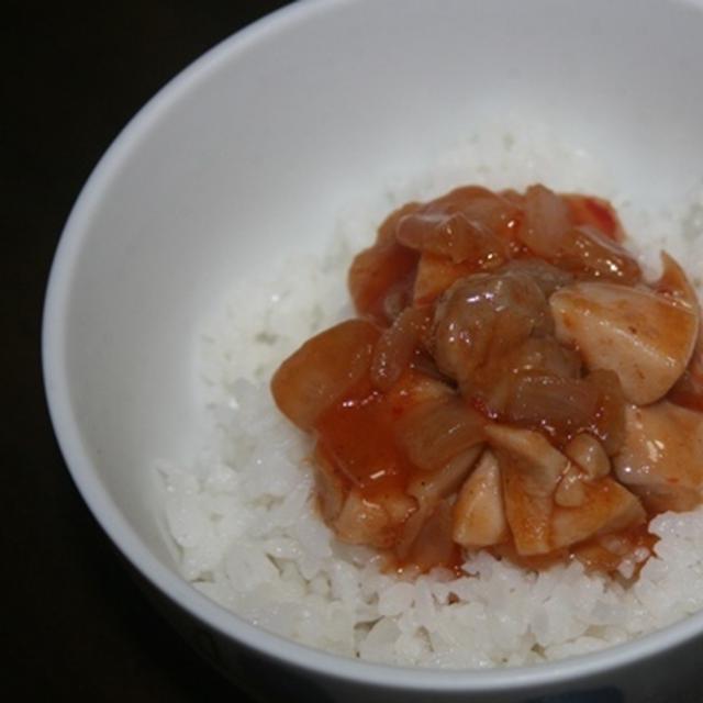 7月2日  鶏チリ丼