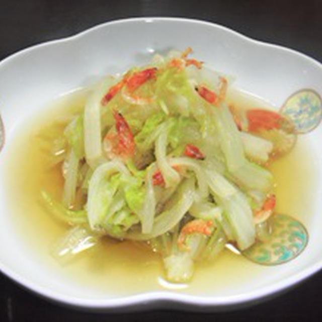 白菜と桜海老の煮浸し