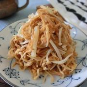 生姜がアクセント♪ 切り干し大根とえのきのポン酢炒め