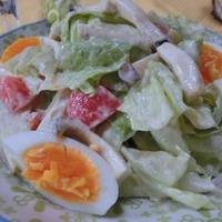 きのこペーストマヨで深ウマ♪ きのこ入り野菜サラダ