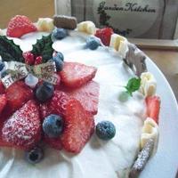親子で☆簡単・焼かない「ホワイトムース・ケーキ」