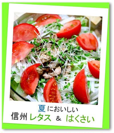 レタスと豚肉のデリシャスサラダ。