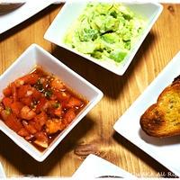 簡単■トマトサルサディップ&アボカドディップ バケット添え■おうちバルパーティにオススメ♪(´・ω・`)