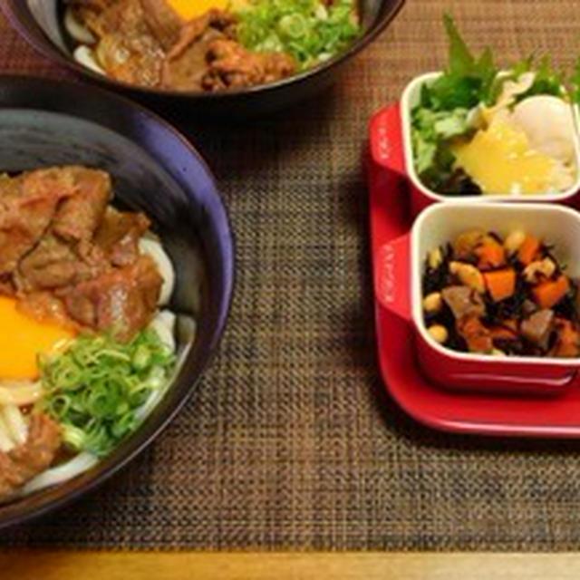 イタヤ貝は芥子酢味噌☆すき焼き釡玉うどん♪☆♪☆♪