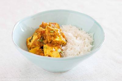 焼き豆腐のベジタリアンカレー