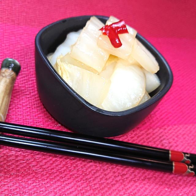 白菜の甘酢漬け物(5分で簡単)