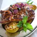 肉がいっぱいついてるスペアリブのライムミント風味グリル