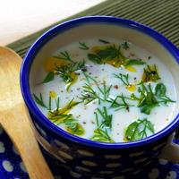 【混ぜるだけでとっても簡単!】ヨーグルトスープ  ブルガリア風