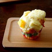 バターナッツとチーズの蒸しパン&おちびさん・・にゃ♪