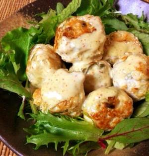 沢山蕩ける。とろろチーズのマヨ柚子胡椒チキンボール(糖質4.0g)
