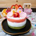 ひな祭りのネイキッドケーキ by すずめさん